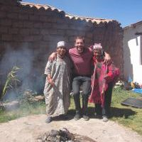 Alex with our shamans in Cusco, Peru