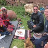 Danny & Bryan offering Pachamama Ceremony