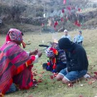 Tom's flowering ceremony in Cusco, Peru